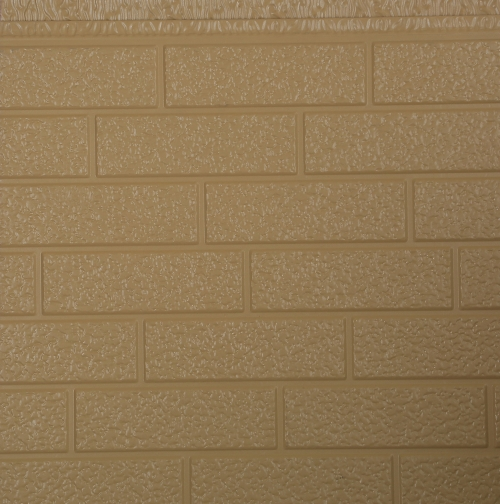 Exterior wall metal embossed insulation board