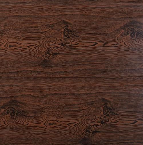 Wood grain metal carved plate