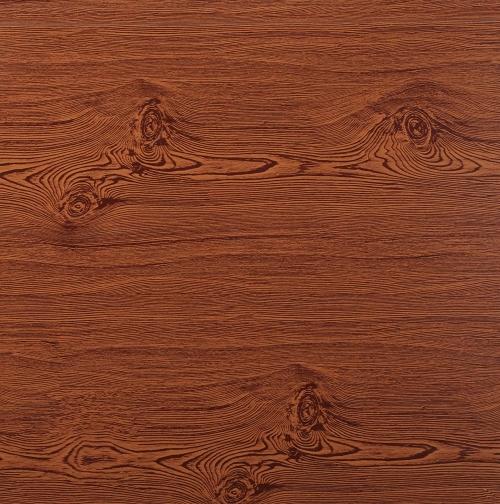 Wood grain metal plate